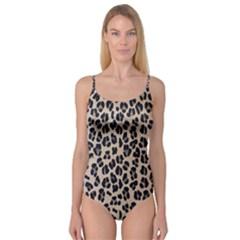 Background Pattern Leopard Camisole Leotard