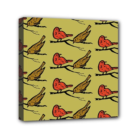 Bird Birds Animal Nature Wild Wildlife Mini Canvas 6  X 6  by Amaryn4rt