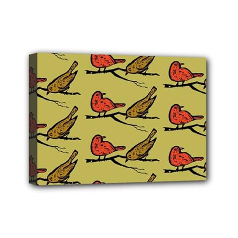 Bird Birds Animal Nature Wild Wildlife Mini Canvas 7  X 5  by Amaryn4rt