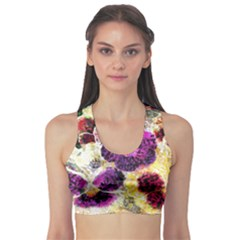 Background Flowers Sports Bra
