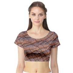 Elephant Skin Short Sleeve Crop Top (tight Fit) by Amaryn4rt