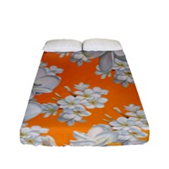 Flowers Background Backdrop Floral Fitted Sheet (full/ Double Size) by Amaryn4rt