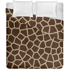 Giraffe Animal Print Skin Fur Duvet Cover Double Side (california King Size) by Amaryn4rt