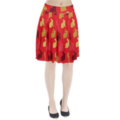 Hare Easter Pattern Animals Pleated Skirt by Amaryn4rt