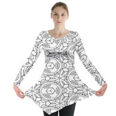 Pattern Silly Coloring Page Cool Long Sleeve Tunic