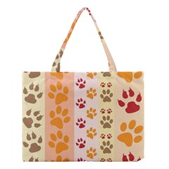 Paw Print Paw Prints Fun Background Medium Tote Bag by Amaryn4rt