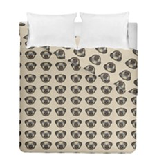 Puppy Dog Pug Pup Graphic Duvet Cover Double Side (full/ Double Size) by Amaryn4rt