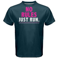 No Rules Just Run   Men s Cotton Tee by FunnySaying