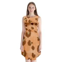 Seamless Tile Background Abstract Sleeveless Chiffon Dress   by Amaryn4rt