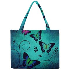 Texture Butterflies Background Mini Tote Bag by Amaryn4rt