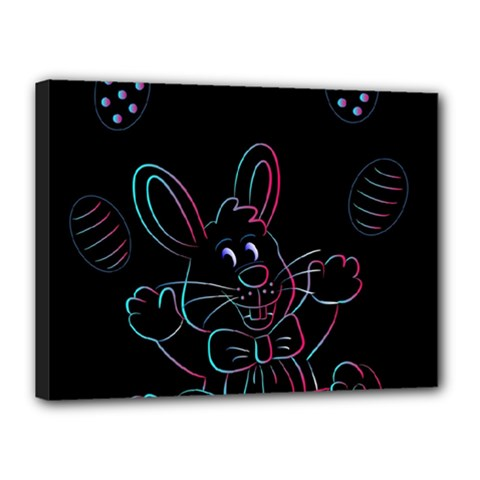 Easter Bunny Hare Rabbit Animal Canvas 16  X 12  by Amaryn4rt