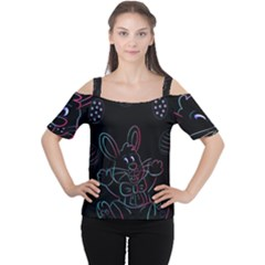 Easter Bunny Hare Rabbit Animal Women s Cutout Shoulder Tee by Amaryn4rt