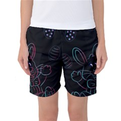 Easter Bunny Hare Rabbit Animal Women s Basketball Shorts by Amaryn4rt
