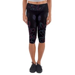 Easter Bunny Hare Rabbit Animal Capri Yoga Leggings by Amaryn4rt
