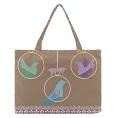 Isolated Wallpaper Bird Sweet Fowl Medium Zipper Tote Bag by Amaryn4rt
