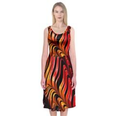 Abstract Fractal Mathematics Abstract Midi Sleeveless Dress by Amaryn4rt