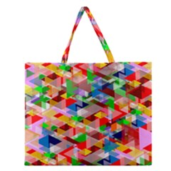 Background Abstract Zipper Large Tote Bag by Amaryn4rt
