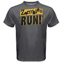 Zombies Run   Men s Cotton Tee by FunnySaying