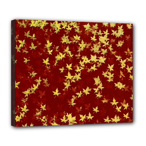 Background Design Leaves Pattern Deluxe Canvas 24  X 20