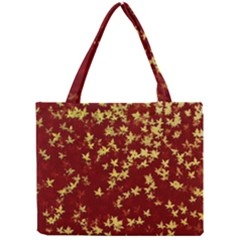 Background Design Leaves Pattern Mini Tote Bag by Amaryn4rt