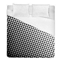 Background Wallpaper Texture Lines Dot Dots Black White Duvet Cover (full/ Double Size) by Amaryn4rt