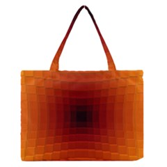 Orange Background Wallpaper Texture Lines Medium Zipper Tote Bag