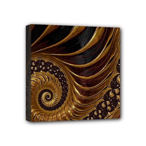 Fractal Spiral Endless Mathematics Mini Canvas 4  X 4  by Amaryn4rt