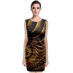 Fractal Spiral Endless Mathematics Classic Sleeveless Midi Dress by Amaryn4rt