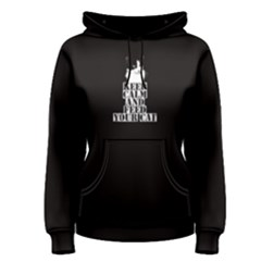 Black Keep Calm And Feed Your Cat Women s Pullover Hoodie by FunnySaying