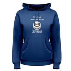 blue come back on caturday Women s Pullover Hoodie by FunnySaying