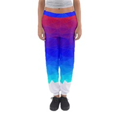 Gradient Red Blue Landfill Women s Jogger Sweatpants by Amaryn4rt