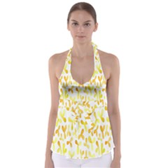 Springtime Yellow Helicopter Babydoll Tankini Top by Alisyart