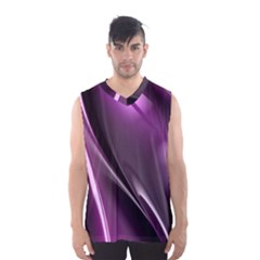 Purple Fractal Mathematics Abstract Men s Basketball Tank Top by Amaryn4rt