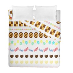 Sunflower Plaid Candy Star Cocolate Love Heart Duvet Cover Double Side (full/ Double Size)