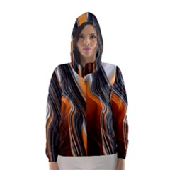 Fractal Structure Mathematic Hooded Wind Breaker (Women) by Amaryn4rt