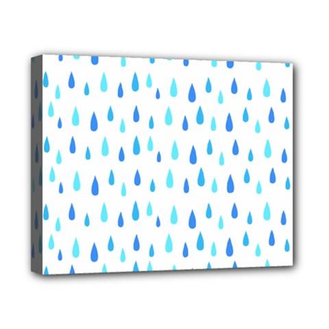 Water Rain Blue Canvas 10  X 8  by Alisyart