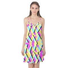 Bright Zig Zag Scribble Yellow Pink Camis Nightgown by Alisyart