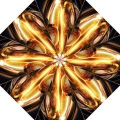 Digital Art Gold Straight Umbrellas by Alisyart