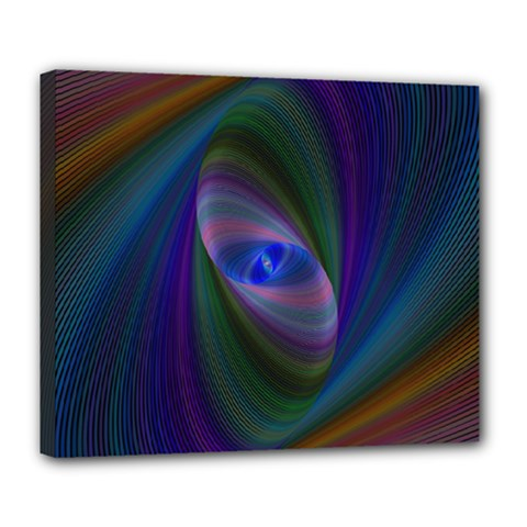 Ellipse Fractal Computer Generated Deluxe Canvas 24  X 20