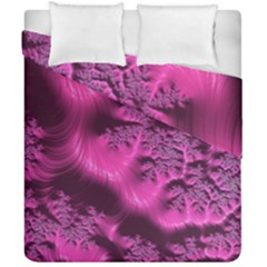 Fractal Artwork Pink Purple Elegant Duvet Cover Double Side (california King Size) by Amaryn4rt