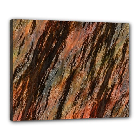 Texture Stone Rock Earth Canvas 20  X 16  by Amaryn4rt