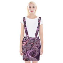 Purple Abstract Art Fractal Art Fractal Suspender Skirt