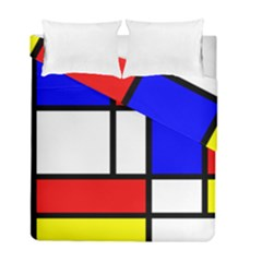 Mondrian Red Blue Yellow Duvet Cover Double Side (full/ Double Size)