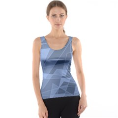 Lines Shapes Pattern Web Creative Tank Top
