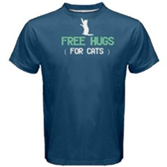Blue free hugs for cats  Men s Cotton Tee by FunnySaying