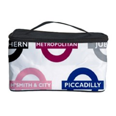 Underground Signs Tube Signs Cosmetic Storage Case by Amaryn4rt