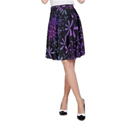 Retro Flower Pattern Design Batik A Line Skirt