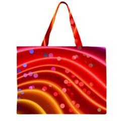 Bokeh Lines Wave Points Swing Large Tote Bag