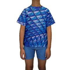 Lines Geometry Architecture Texture Kids  Short Sleeve Swimwear by Amaryn4rt