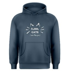 Blue I love cats  Men s Pullover Hoodie by FunnySaying